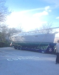 New 42ft boat arrives at Fairfield Marina