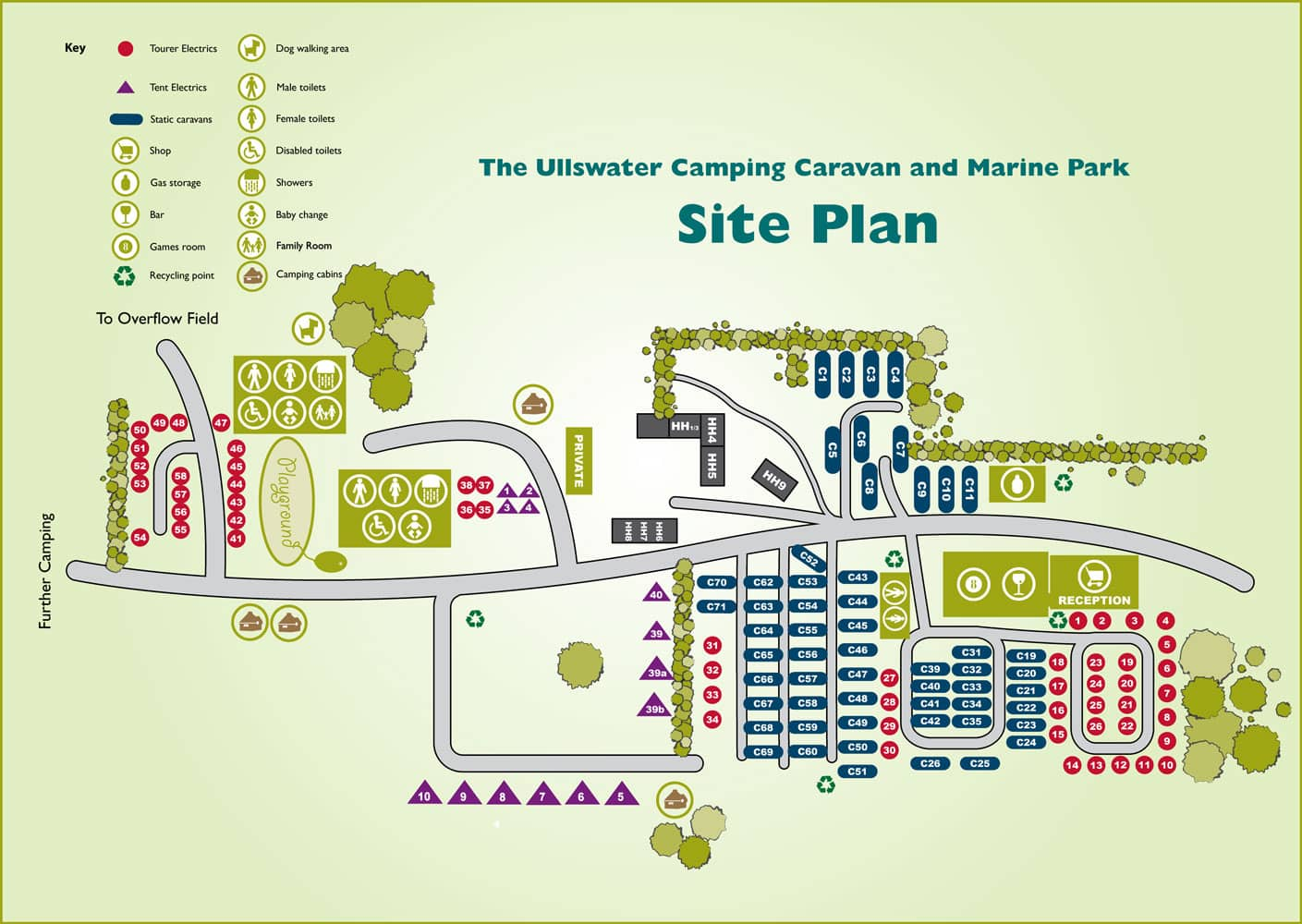 Ullswater Holiday Park site-plan