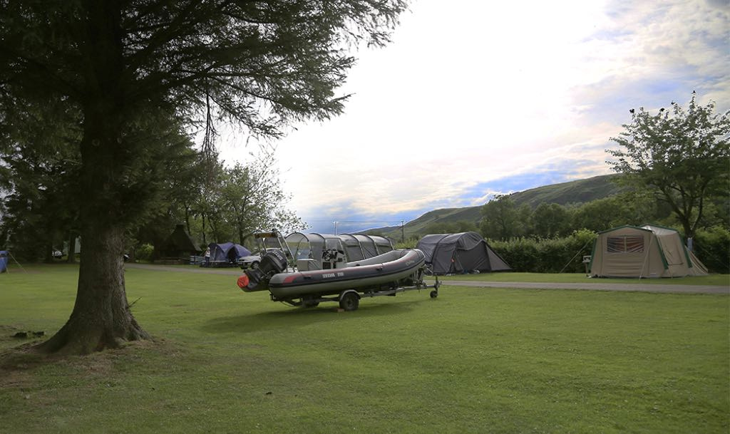 Tent Camping & boating at Ullswater Holiday Park