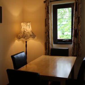 Dining Room in the self catering cottage