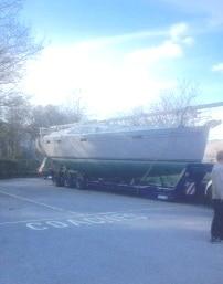 New 42ft boat arrives at Fairfield Marina